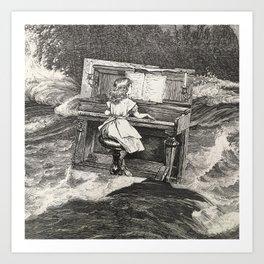 Ballad for piranhas Art Print