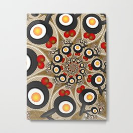 Brunch, Fractal Art Fantasy Metal Print
