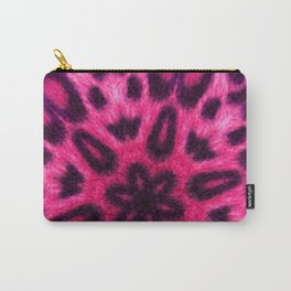 Adorable Pink Spotted Leopard Kaleidoscope Carry-All Pouch