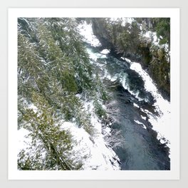 Cold stream Art Print