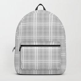 Christmas Silver Tartan Plaid Check Backpack