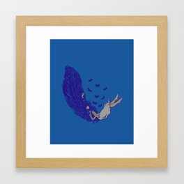 Falling dreams  Framed Art Print