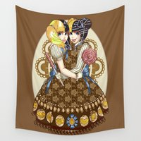 lolita Wall Tapestries featuring Thoraco-omphalopagus Conjoined Lolita by Li Boggs