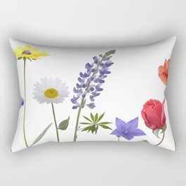 Flowers isolated on white background. Digital painting Rectangular Pillow