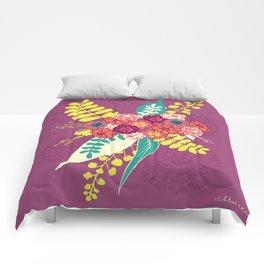 Violet flower bunch Comforters