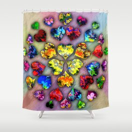 heart beat II Shower Curtain