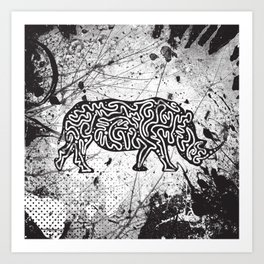 Rhino Abstract Design Art Print
