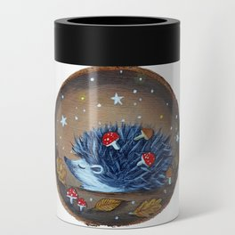 Magical Autumn Hedgehog With Forest Treasures Can Cooler