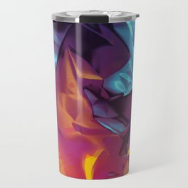 Surfing Europa. Dynamic Yellow, Orange and Blue Abstract. Travel Mug