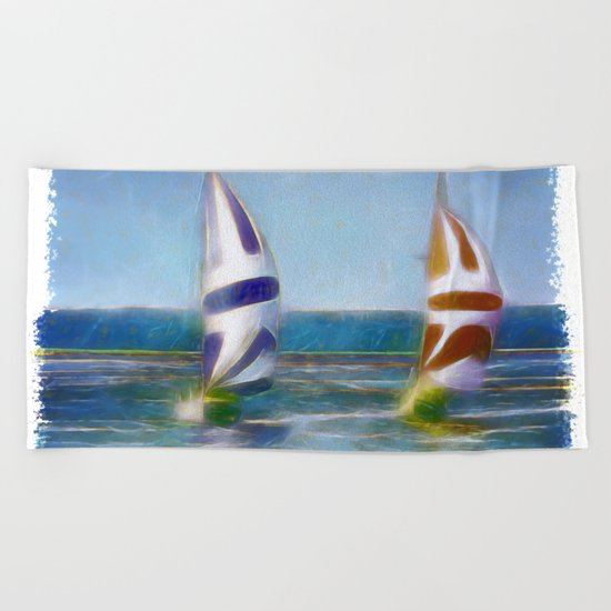The Wind In Your Sails Beach Towel