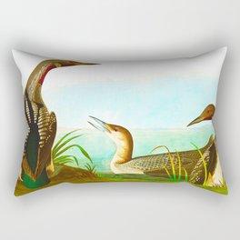 Black Throated Diver Duck Rectangular Pillow