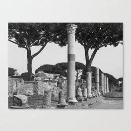 Ostia ruins Rome Italy Canvas Print