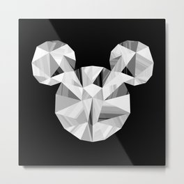 Silver Pop Crystal Metal Print