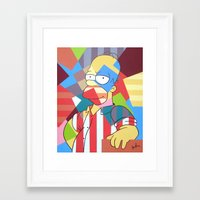 simpson Framed Art Prints featuring Homer Simpson by iankingart