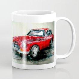 MG 1969 Classic Car Acrylics On Paper Coffee Mug