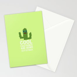 Cool Cactuses born in SEPTEMBER T-Shirt Dwy5g Stationery Cards