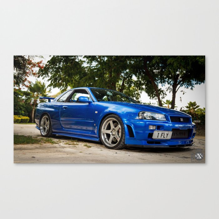 Mines Tuned Stage 2 V Spec 2 Nissan Skyline GTR R34 Canvas Print
