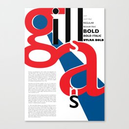 Gill Sans Poster Canvas Print
