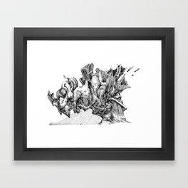 rain down Framed Art Print
