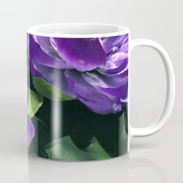 Purple Lily Pads in Pond Coffee Mug