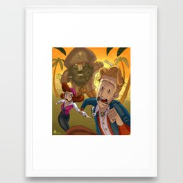 Monkey Island - RUN Framed Art Print