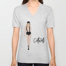 Girl on catwalk Unisex V-Neck