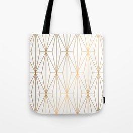 Gold Geometric Pattern Illustration Tote Bag