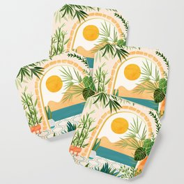 Villa View / Tropical Landscape Coaster