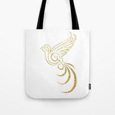 Golden Songbird Tote Bag