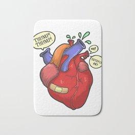 Heart thump-thump Bath Mat