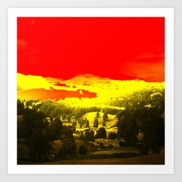 Digitally Altered Photo of Lake Windermere Art Print