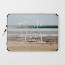 Run this beach Laptop Sleeve