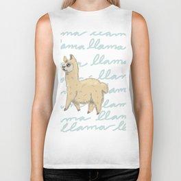 Llama Be My Best Biker Tank