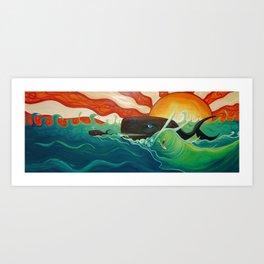 """Whale Waves"" Art Print"
