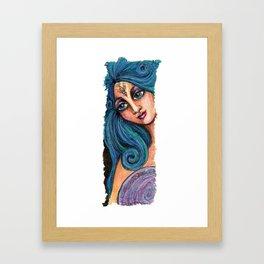 She Beholds Perfection Framed Art Print