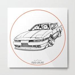 Crazy Car Art 0214 Metal Print