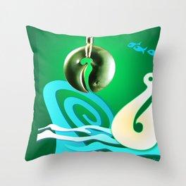 Go Fishing - Hi Ika Throw Pillow