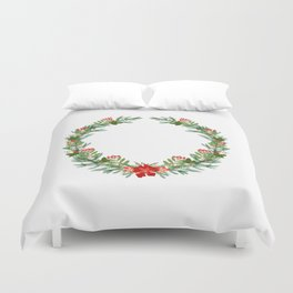 Christmas wreath Duvet Cover