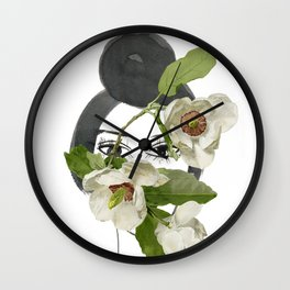 Look through the Flowers 1 Wall Clock