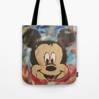 mickey Tote Bags featuring Mickey by Jason L Cohen Fine Art