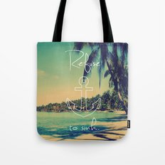 Refuse to Sink Anchor Vintage Summer Beach Tote Bag