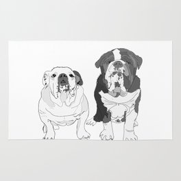 English Bulldog Brothers Rug