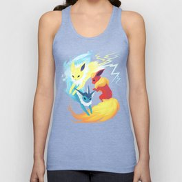 Elemental Trio - Fire Water Lightning Unisex Tank Top