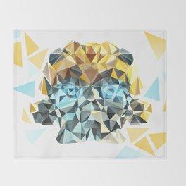 Bumblebee Low Poly Portrait Throw Blanket