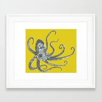 octopus Framed Art Prints featuring Octopus by Rachel Russell