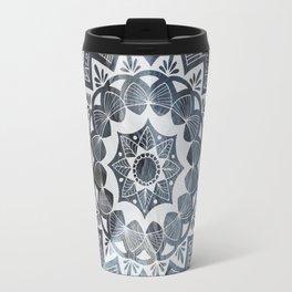 Moroccan white mandala on sky Travel Mug