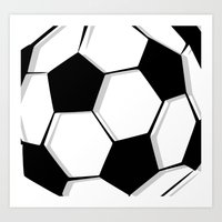 soccer Art Prints featuring Soccer by An Luong