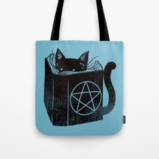 WITCHCRAFT CAT (Blue) Tote Bag