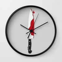 psycho Wall Clocks featuring Psycho by Beitebe