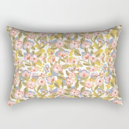 Colorful flower pattern Rectangular Pillow